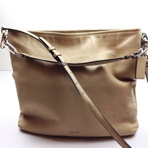 Coach Large Leather Shoulder Bag Crossbody @